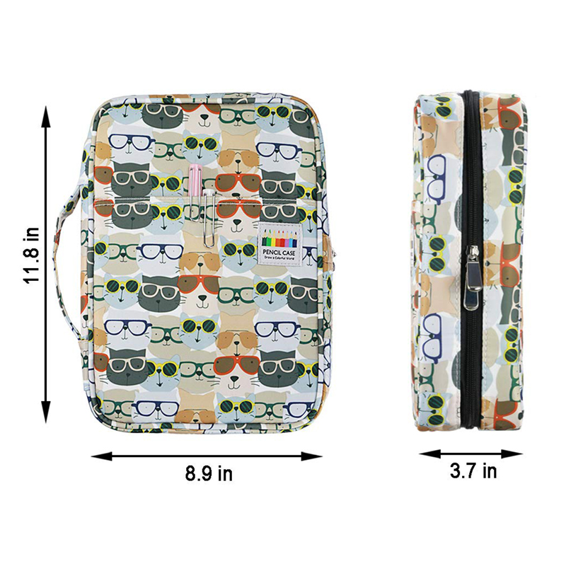 Image 3 - 216 Slots Large Capacity Pencil Bag Case Organizer Cosmetic Bag For Colored Pencil Watercolor Pen Markers Gel Pens Great Gifts-in Pencil Bags from Office & School Supplies