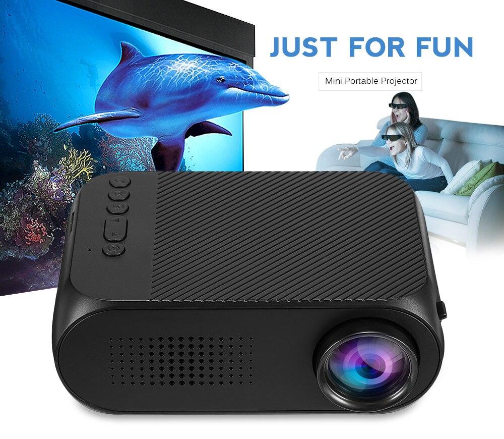 YG-320 YG320 мини ЖК-дисплей проектор для домашнего Театр Кино 400LM Поддержка 1080 P HDMI карман Proyector с Встроенный динамик PK YG300