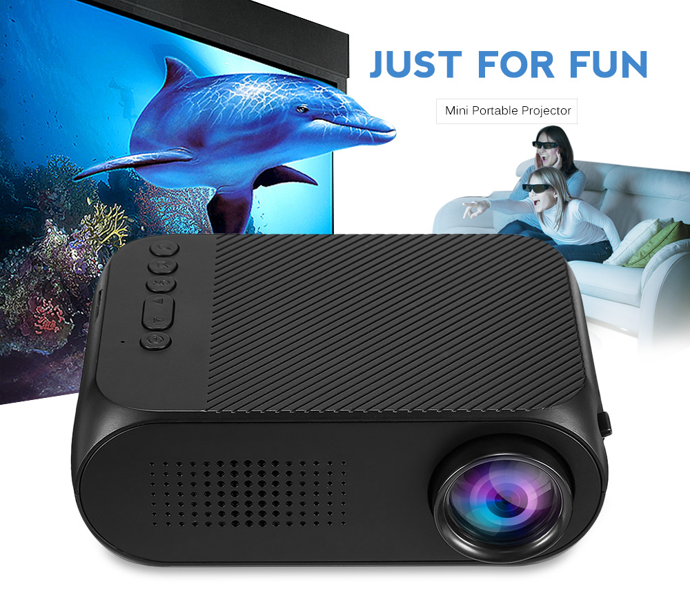 YG-320 YG320 Mini LCD Projector Home Theater Cinema 400LM Support 1080P HDMI Pocket Proyector with Built-in Speaker PK YG300