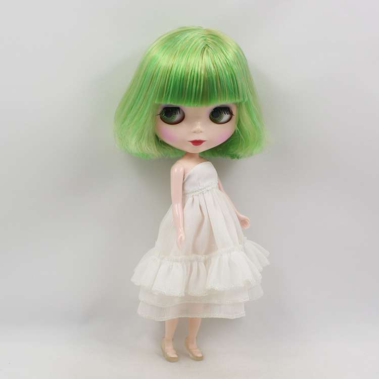 Blyth Nude Doll For Series No.130BL07361174 With Bangs Green mix yellow Hair Suitable For DIY Change Toy For Girls цены онлайн