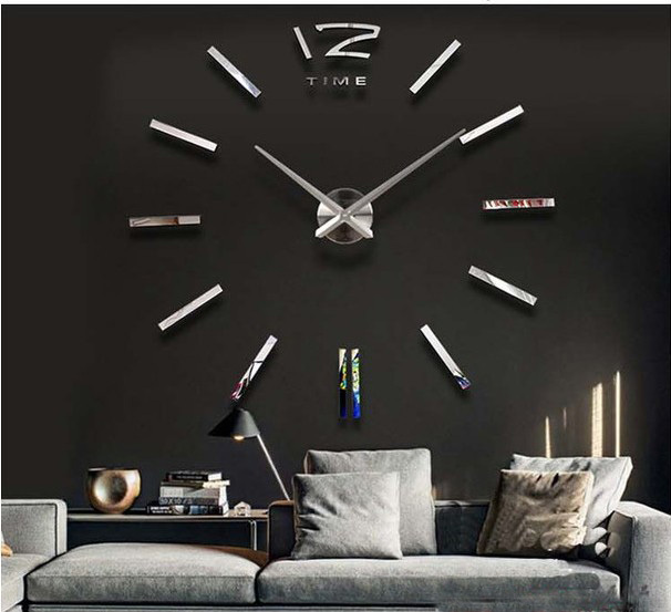 New 3D Wall Art Bell Clock Mirror Art DIY Design Luxury Larger Wall Clock Oversized Living Room Free Shipping-in Wall Clocks from Home u0026 Garden on ...  sc 1 st  AliExpress.com & New 3D Wall Art Bell Clock Mirror Art DIY Design Luxury Larger Wall ...