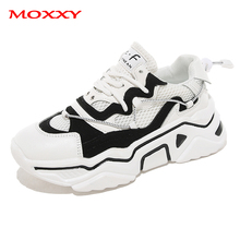 2019 New Sprot Shoes Woman Sneakers Women Trainers Autumn Black White Fashion Casual Chunky chaussures femme