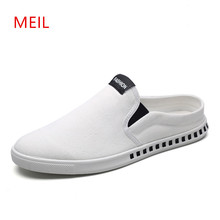 купить Men Casual Shoes 2018 Spring Summer Canvas Shoes Men Loafers Footwear Fashion Casual Breathable Slipon Shoes Zapatos Hombre дешево