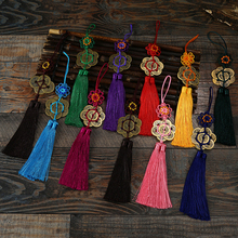 Bronze Plum Chinese Knot 10 pcs Decorative Fringe Tassel Trim Dress Bags Pendant Ethnic Style Rich Flower Mini Diy