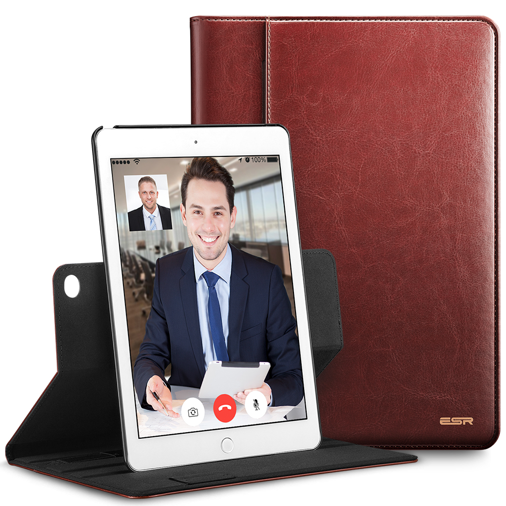 Case For For Ipad Air2 Premium PU Leather Business Folio Stand Case Organizer Pocket Smart Auto Wake Sleep For Ipad 6/Air 2