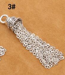 925 Серебряная кисточка DIY браслет кисточка чистое серебро ювелирные изделия кисточка - Цвет: Style 3