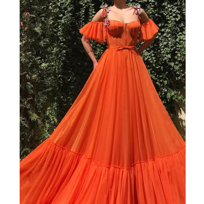 Sweetheart Dubai   Evening     Dresses   2019 Sexy Backless Off the Shoulder Tulle   Evening   Gown with Bow Belt robe de soiree