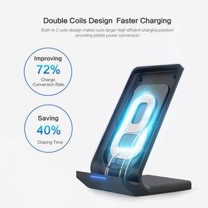 Беспроводное зарядное устройство Fdgao Quick Qi, подставка для iPhone 11 Pro XS Max X XR 8 10 Вт, быстрая зарядка для Samsung Galaxy S20 S10 S9 Note 10 9