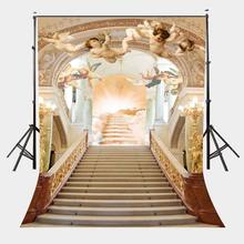 150x220cm Fantastic European Architecture Backdrop Flying Little Angels 3D Dreamy Photography Background