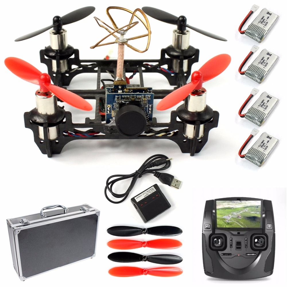 RTF Tiny QX80 Frame kit DIY Indoor Racer Carbon Fiber Racing Drone Quadcopter with 8520 Brush Motor 520TVL Camera H107 TX&RX 250 quadcopter full carbon fiber frame kit rtf quadcopter with remote controller