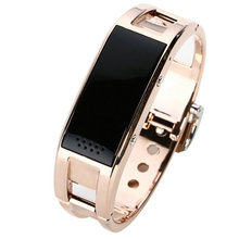 Best sensible bluetooth hand ring steel skinny pedometer digital watch Men Wristwatches Boys Digital Steel Student Sports LED