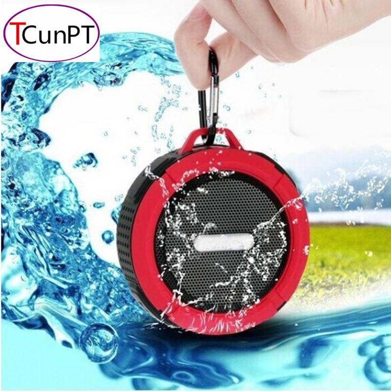 New Fashion Portable Waterproof Outdoor Wireless Bluetooth Speaker C6 Sucting Computer Mobile Phone Speaker Support TF