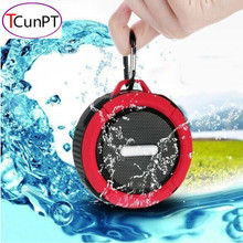 New Fashion Portable Waterproof Outdoor Wireless Bluetooth Speaker C6 Sucting Computer Mobile Phone Speaker Support TF Card