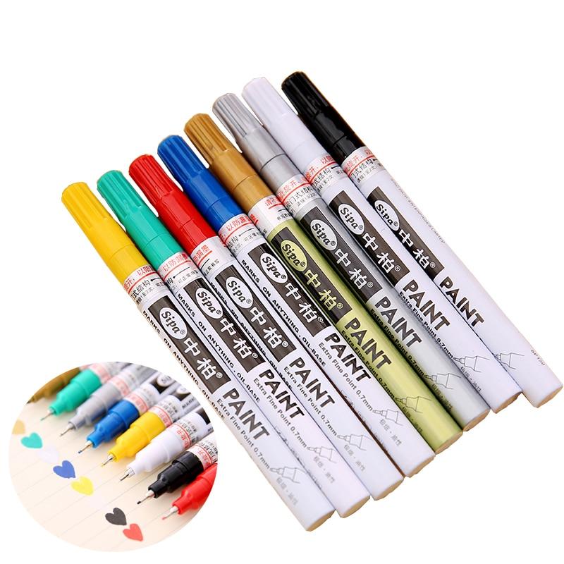 Sipa Oil-Based 8 Colors 0.7mm Neelde Pens Extra Fine Point Paint Marker Permanent Marker Pen DIY Art  Markers Graffiti Paint