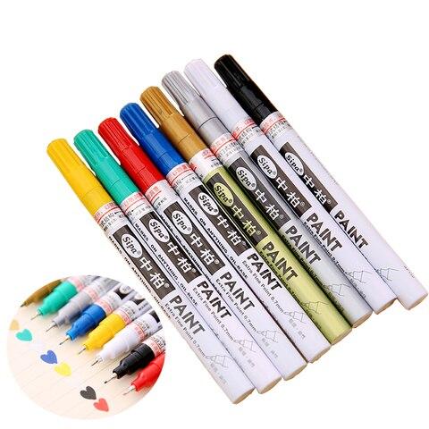 sipa baseado em oleo 8 cores 0 7mm neelde canetas extra ponto fino marcador de