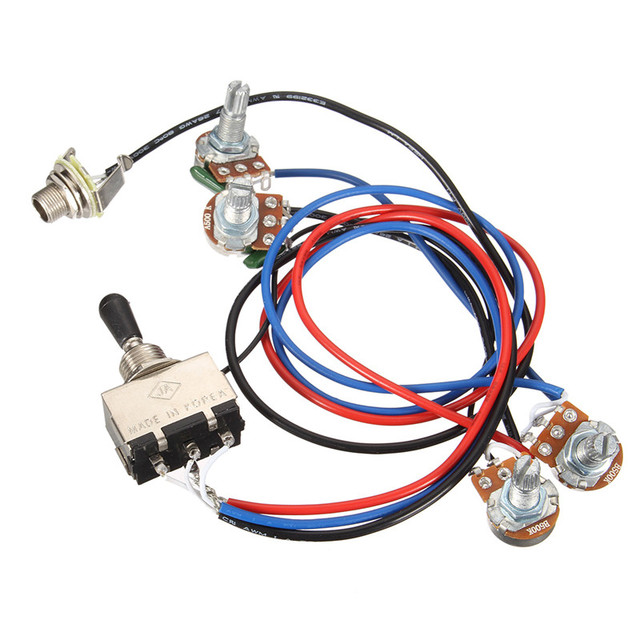 Wiring Harness 2V 2T 3 Way Toggle Switch 500K Pots For Guitar Dual Humbucker Replacement Guitar_640x640 wiring harness 2v 2t 3 way toggle switch 500k pots for guitar dual Three-Way Toggle Switch Wiring at alyssarenee.co