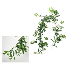 170cm diy fake leaves artificial plants Artificial Leaves Garland Willow Vine Simulation Plants for home wedding New