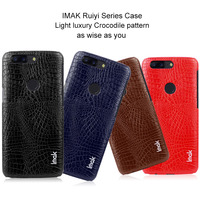 IMAK Luxury Crocodile PU Leather Case For Oneplus 5T Case Fashion Business Back Cover Protective Phone