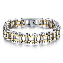 De calidad superior brazalete de acero titanium 1.3*21.5 cm oro plata hombres joyería fina de lujo punk pulsera magnética para los hombres encanto de la joyería