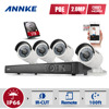 ANNKE 8CH HD 1080P NVR IP Network PoE Outdoor Home Video Security Camera System 1TB