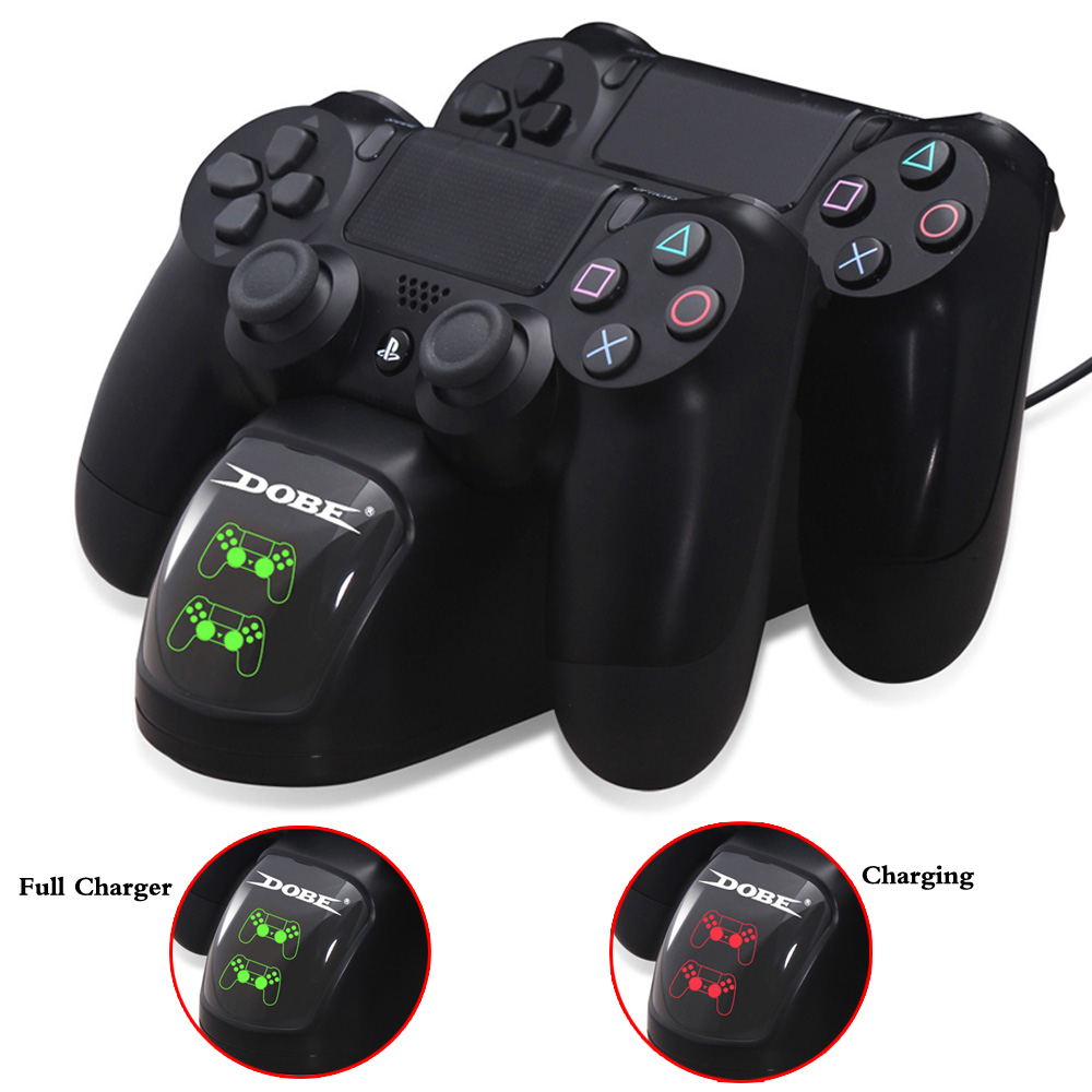 PS4 Controller Charger PS4 Charging Dock with Charging Status Display Screen for Sony Playstation 4 Dualshock 4 PS4 Slim/PS4 Pro цена и фото