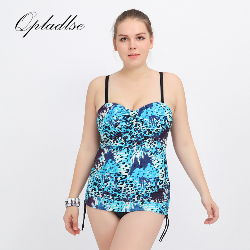 Sexy Plus Size Swimwear Women Print One Piece Swimsuit Fashion Beach Black Monokini Vintage 4XL Super Big Cup Bodysuit Qpladlse egomania гель для душа апельсин и лайм egomania shower gelly orange