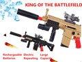 Electric Repeating Crystal Bullet Toy Gun SCAR Assault Rifle Soft & Water Bullets Battlefield Hero Gun Boy free shipping gift