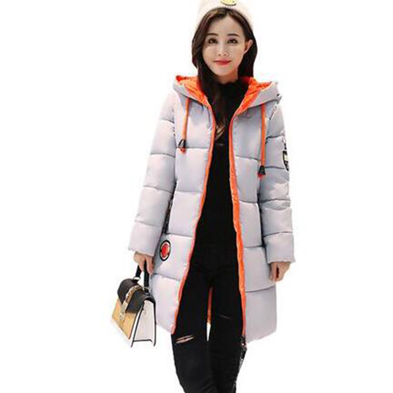 Winter Long Hooded Jacket Women Cotton Coat  Plus Size Parkas Outerwear Thick Casual Wadded Jackets Cotton Coats PW1014 2017 winter women long hooded cotton coat plus size padded parkas outerwear thick basic jacket casual warm cotton coats pw1003