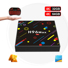 H96 originais MAX H2 Android 7.1 Caixa de TV 4GB32GB/4GB64GB RK3328 Quad núcleo 4 K WiFi Bluetooth 4.0 Caixa de TV Inteligente Media Player PK X96