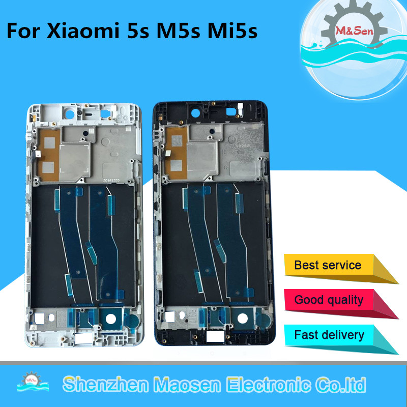 Bezel-Frame Xiaomi for Xiaomi/Mi/5s/.. with Power Flex-Cable Front Middle-Frame-Housing