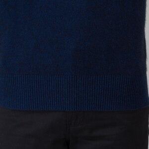 Image 5 - ผู้ชายฤดูหนาวจัมเปอร์ 100% แคชเมียร์และผ้าขนสัตว์ถักเสื้อกันหนาวคอยาวแขนยาว Pullovers ชาย 2016 เสื้อใหม่ขนาดใหญ่เสื้อผ้า