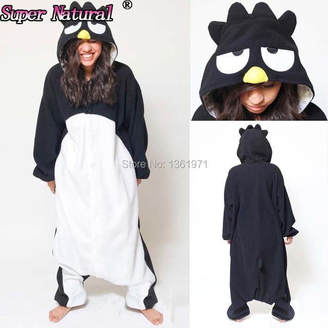 HKSNG Высокое качество Черный Пингвин животных для взрослых Зима Хэллоуин  пижамы костюмы-комбинезоны косплэй кигуруми bb868218cb055