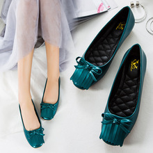 2016 Autumn New Arrival Square Toe Slip on Women's Shoes Bowtie PU Fashion Flats for Woman Casual Soft Shoes