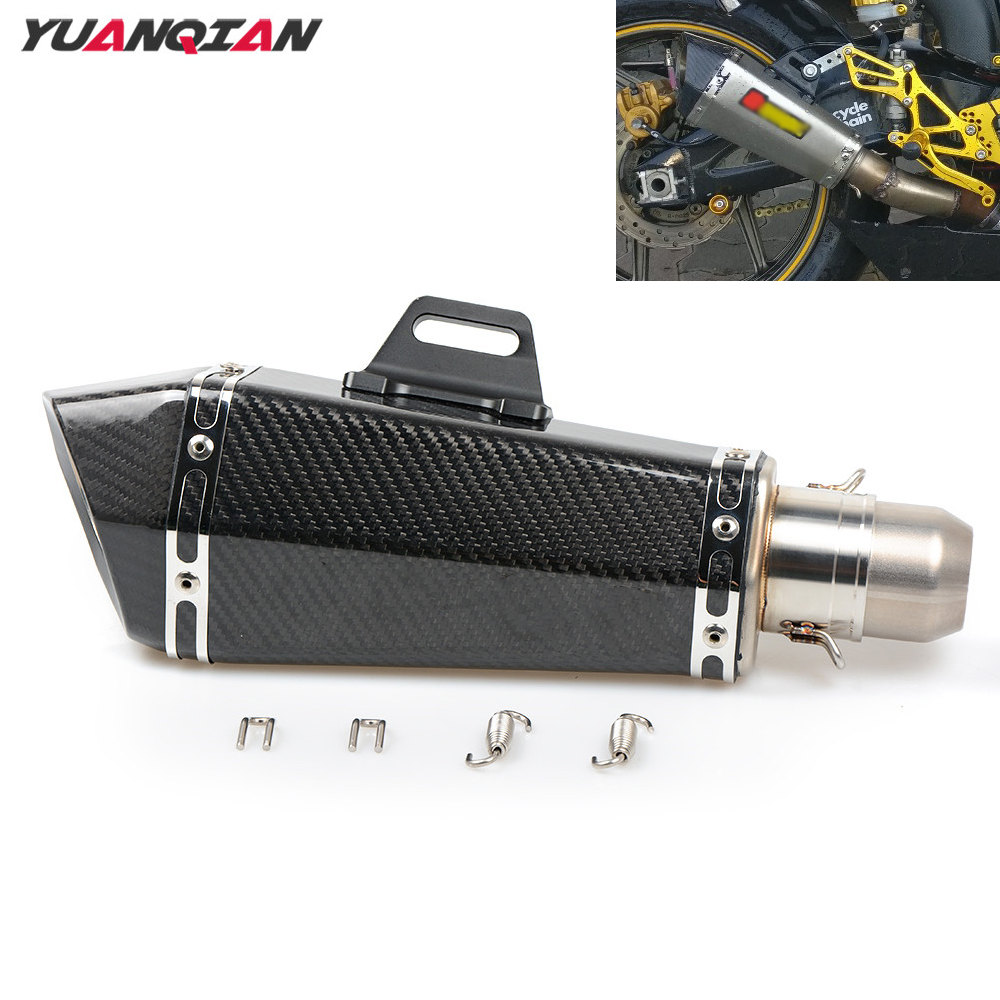 Carbon Fiber Motorcycle Exhaust pipe Muffler Scooter Exhaust For HONDA MSX 125 MSX125 GROM CG PCX 125 150 NC750 NC559 NC750X / S free shipping carbon fiber id 61mm motorcycle exhaust pipe with laser marking exhaust for large displacement motorcycle muffler