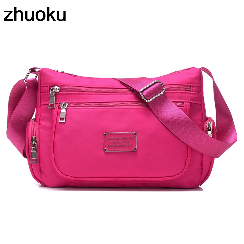 Nylon Beach Messenger Bag Girls Shoulder Bags Handbags Women Famous Brand Crossbody Bag Solid Bolsa Feminina