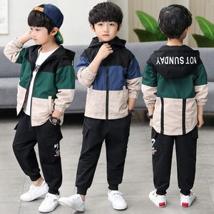 Image 3 - 2019 New Kids Boys Clothing Set Children Tops Hoodie Jackets + Pants Set 4 6 8 10 12 14 15 Years Kids Clothes Boy Casual Suits