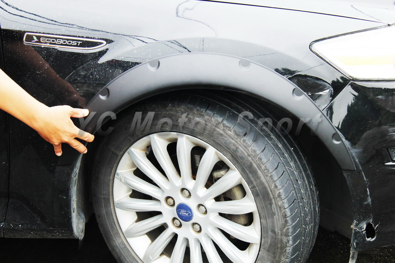 Car Accessories ABS Fender Flare Wheel Arch 780mmx320mmx45mm with Rubber Sealing Strip Fit For Universal Car Model