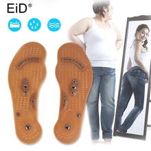 EiD Magnetic Therapy Slimming Insoles for Weight Loss Foot Massage Health Care Shoes Mat Pad Acupuncture Massaging Insole insert heathcare therapy heating mat for foot jade germanium massage mat electric heat pad mattress