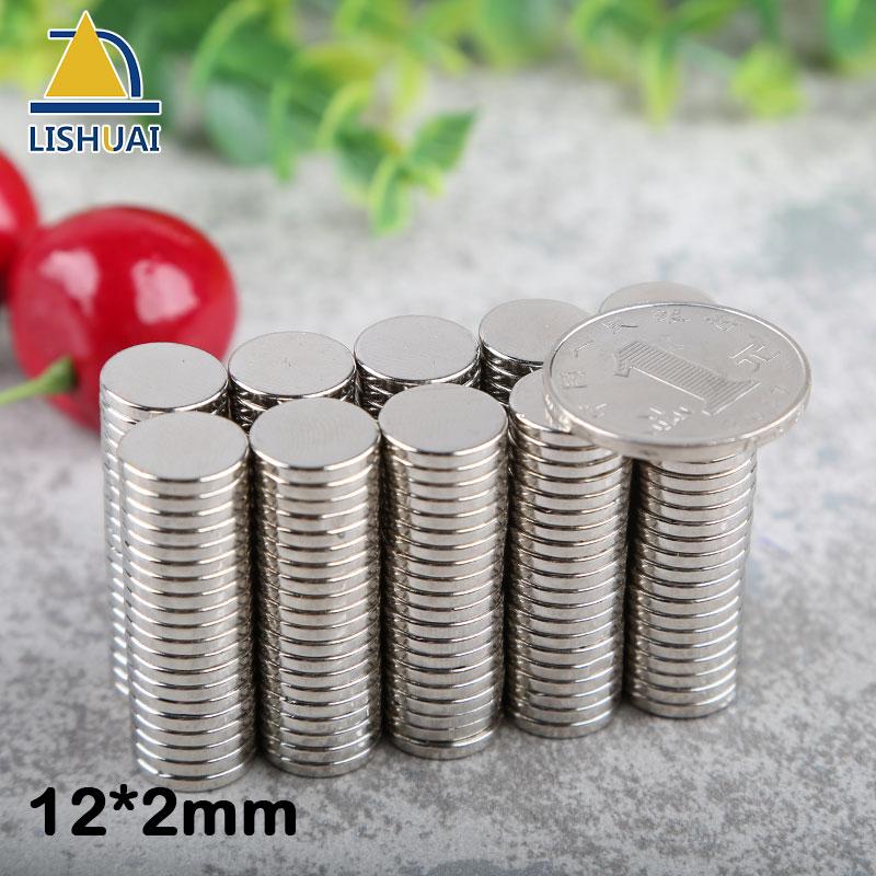 LISHUAI 12mm X 2mm N35 Forte Disco Rotondo Magneti della Terra Rara magnete Al Neodimio magnete Permanente magnete Circolare 50 /100/200 pz