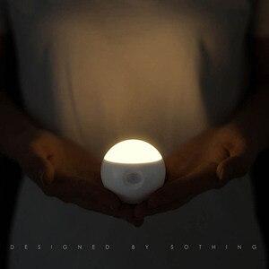 Image 2 - Умный ночник Youpin Sothing Sunny с инфракрасным датчиком, индукционный съемный Ночной светильник с USB зарядкой для дома