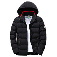 drop shipping New Fashion Men Winter Jacket Coat Hooded Warm Mens Winter Coat Casual Slim Fit Student Male Overcoat ABZ82 2