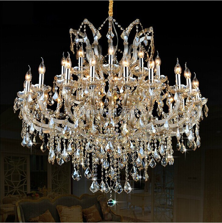 Hotel Large Chandelier Lighting Top k9 crystal chandeliers bedroom lamp dining room crystal lamp crystal chandelier light