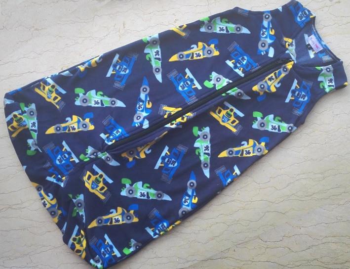 0-18M 3 størrelser Baby Sleeping Bag Tøj møbelfri lynlås sovepose / enkelt lag