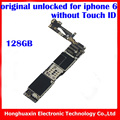 Ios sistema motherboard placa lógica para iphone 6 desbloqueio de fábrica sem fingprint 128 gb originais motherboard sem touch id
