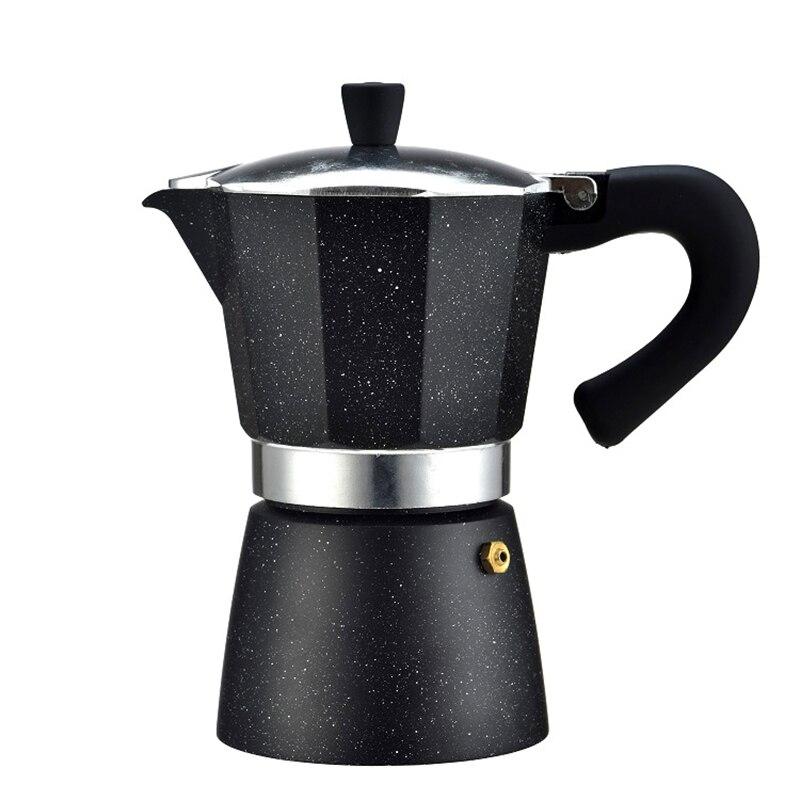 240ML Coffee Maker Pot Mocha Espresso Latte Stovetop Filter Moka Coffee Maker Coffee Pot for Kitchen Home240ML Coffee Maker Pot Mocha Espresso Latte Stovetop Filter Moka Coffee Maker Coffee Pot for Kitchen Home