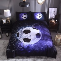 Quilt Cover Set Polyester Bed Cover Set 3D Printing Football Duvet Cover Sets Teen Boys Bedding bed linings K409