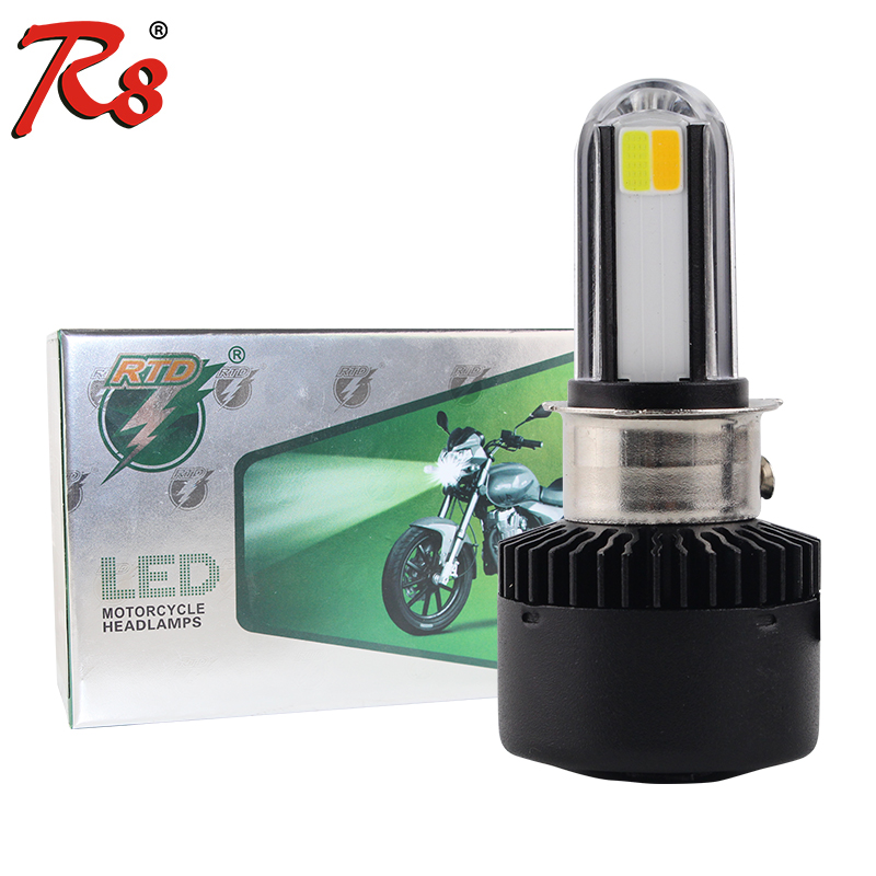 Rtd M02x Dual Colors Motorcycle H4 Hs1 Ba20d P15d H6 S2 Led Headlight Bulbs 3500lm 6500k 3000k Ac Dc 12v White Yellow Universal Aliexpress