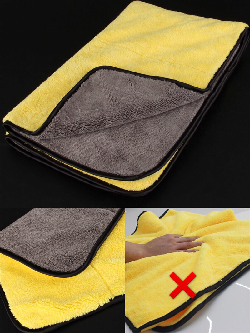 Super Absorbent Large Size Microfiber Car Cleaning Cloth Towel Super Thick Plush Car Wash Drying Cloth Wax Polish Detailing Towe ultrafine absorbent towel used to clean the car