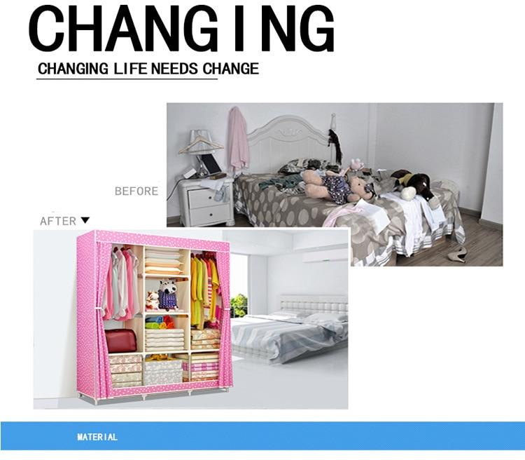 Closet muebles Fabric armario 10