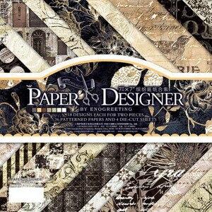 7 ''односторонний Печатный узор фон крафт бумага Оригами набор бумаги для скрапбукинга бумажный набор из 40 листов для изготовления карт дамасский скрапбук